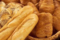 Fresh bread and pastry Stock Images