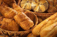 Fresh bread and pastry Royalty Free Stock Photos