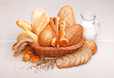 Fresh bread and pastry Stock Photo