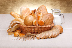 Fresh bread and pastry royalty free stock image