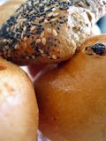 Fresh bread pieces. Fresh bread baked from my own oven Royalty Free Stock Images