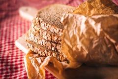 Fresh bread on the plate Stock Photos