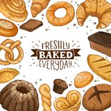 Fresh bread poster vector illustration
