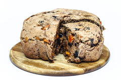Fresh bread with raisins and plum Stock Images
