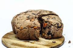 Fresh bread with raisins and plum Royalty Free Stock Image