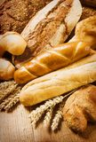 Fresh bread and rolls. Various types of fresh bread and rolls stock image