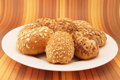 Fresh bread rolls Royalty Free Stock Photos