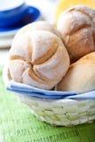 Fresh bread rolls in a breadbasket Stock Photos