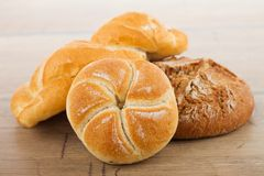 Fresh bread and rolls Royalty Free Stock Images