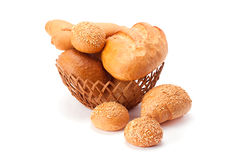 Fresh bread and rolls. stock images