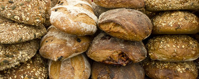 Fresh Bread and Rolls at Fair Stock Image