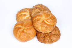 Fresh bread rolls with seeds Royalty Free Stock Photos
