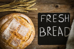 Fresh bread, rustic style still life Royalty Free Stock Photography