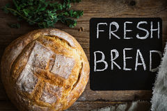 Fresh bread, rustic style still life Royalty Free Stock Photo