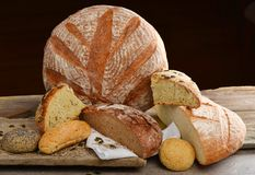 Fresh bread selection Royalty Free Stock Image