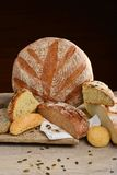Fresh bread selection Stock Photography