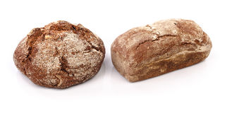 Fresh bread separate on white background Royalty Free Stock Photography
