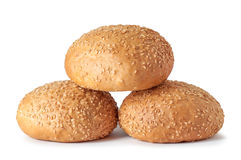 Fresh bread with sesame seeds on a white Stock Photography