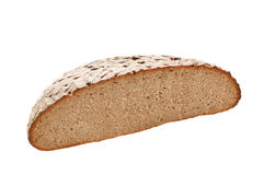 Fresh bread slice isolated. On white Stock Photography