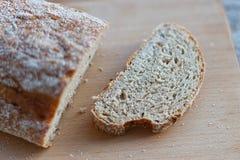 Fresh bread slice Stock Image