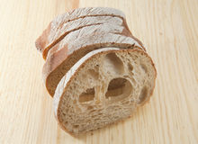 Fresh bread sliced Stock Photography