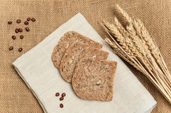 Fresh bread slices with whole grain and wheat Stock Photography