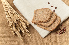 Fresh bread slices with whole grain and wheat Royalty Free Stock Images