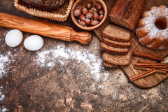 Fresh bread still life bakery product Royalty Free Stock Photo