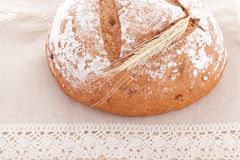 Fresh bread on the table. Fresh baked bread on the table Royalty Free Stock Images