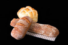Fresh Bread On Table Cloth Royalty Free Stock Image