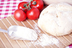 Fresh bread and tomatoes Royalty Free Stock Image