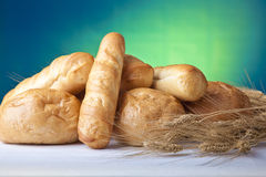 Fresh Bread and Wheat Stock Photography