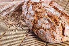 Fresh bread with wheat Royalty Free Stock Photo