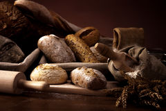 Fresh bread and wheat Royalty Free Stock Images