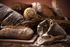 Fresh bread and wheat Royalty Free Stock Image