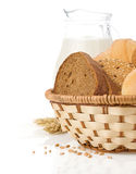 Fresh bread on white Royalty Free Stock Image