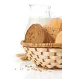 Fresh bread on white Royalty Free Stock Image