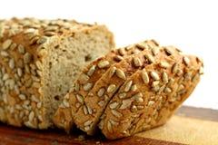 Fresh bread on white Stock Photos