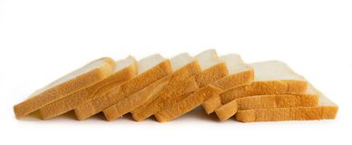 Fresh bread on white background stock images