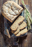 Fresh bread with whole grains Stock Images