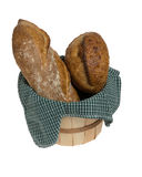 Fresh bread in wicker basket Royalty Free Stock Photography