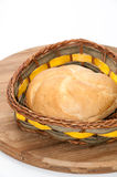 Fresh bread in a wicker basket Royalty Free Stock Images
