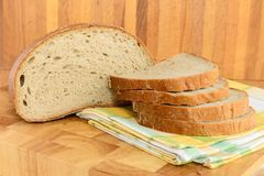 Bread on wooden board. Fresh Bread on wooden board Royalty Free Stock Images