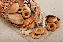 Fresh breads. Stock Photo