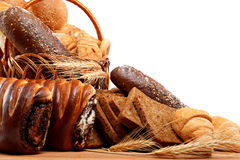 Fresh breads for a variety. Royalty Free Stock Photos
