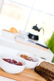 Fresh breakfast. Healthy breakfast / Jam and wholemeal bread / Diet Royalty Free Stock Photo