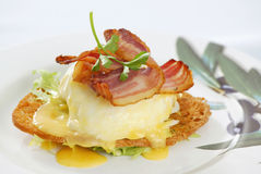 Fresh breakfast. On white plate royalty free stock photos