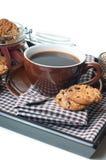 Fresh breakfast, coffee and cookies Stock Photo
