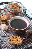Fresh breakfast, coffee and cookies Stock Image