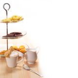 Fresh breakfast coffee and pastry Royalty Free Stock Photography